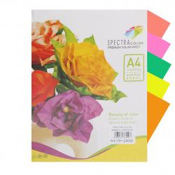 Бумага цветная А4 75г/м2 250л 5 цветов Spectra Color №820