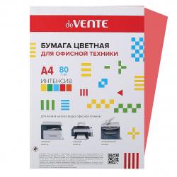 Бумага цветная А4, 80г/кв.м., 20л, 1 цвет, интенсив, красный deVENTE 2072918