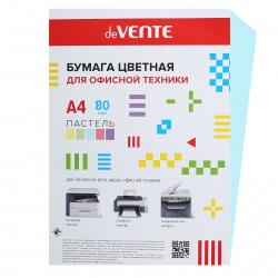 Бумага цветная А4, 80г/кв.м., 20л, пастель, голубой deVENTE 2072901