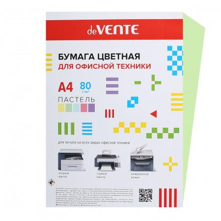 Бумага цветная А4 80г/м2 20л пастель deVENTE 2072905 салатовый