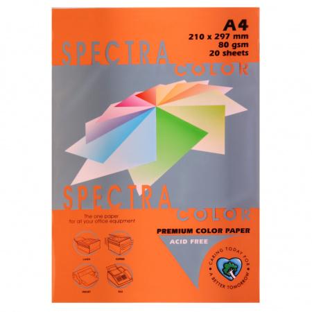 Бумага цветная А4 80г/м2 20л Spectra Color №240 оранжевый