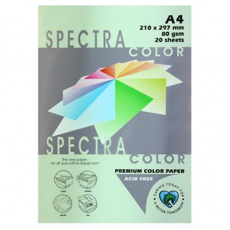 Бумага цветная А4 80г/м2 20л Spectra Color №130 светло-зеленый