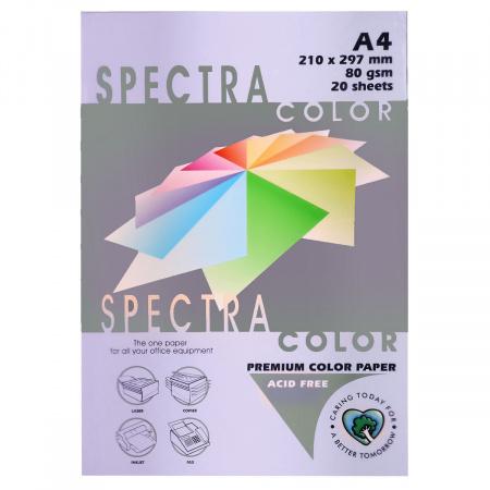 Бумага цветная А4 80г/м2 20л Spectra Color №185 сиреневый