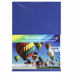 Бумага цветная А4, 80г/кв.м., 20л, интенсив, кобальт Spectra Color 421А