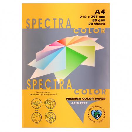 Бумага цветная А4 80г/м2 20л Spectra Color №200 золотой