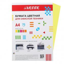 Бумага цветная А4 80г/м2 50л deVENTE 2072938 неон желтый