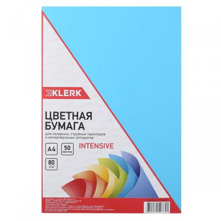 Бумага цветная А4 80г/м2 50л интенсив KLERK 183700/CPP-20/Р синий