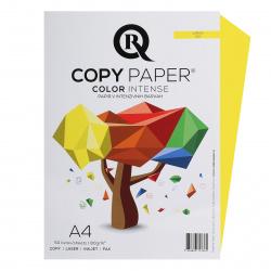 Бумага цветная А4, 80г/кв.м., 50л, интенсив, лимонный Rcopy