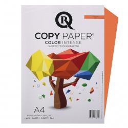 Бумага цветная А4, 80г/кв.м., 50л, интенсив, апельсиновый Rcopy