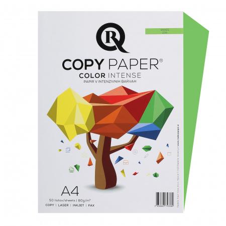 Бумага цветная А4, 80г/кв.м., 50л, интенсив, травяной Rcopy