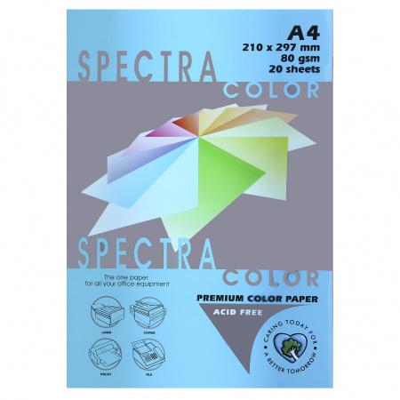 Бумага цветная А4 80г/м2 20л Spectra Color №220 бирюзовый