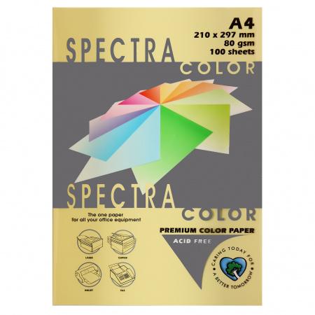 Бумага цветная А4 80г/м2 100л Spectra Color №160 светло-желтый