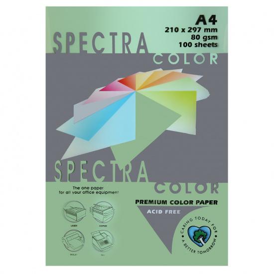 Бумага цветная А4, 80г/кв.м., 100л, пастель, салатовый Spectra Color 190