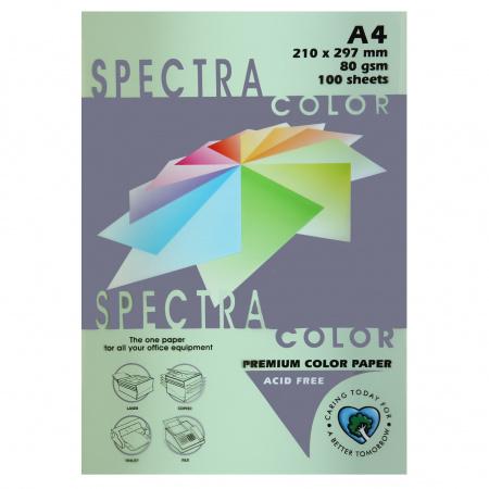 Бумага цветная А4, 80г/кв.м., 100л, пастель, светло-зеленый Spectra Color 130