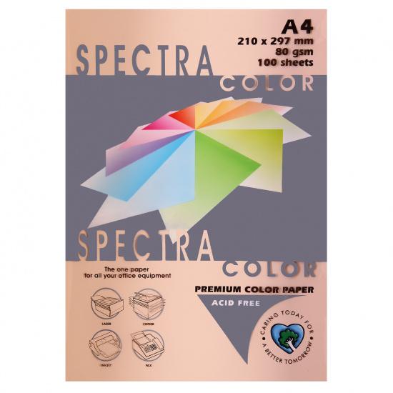 Бумага цветная А4, 80г/кв.м., 100л, пастель, персиковый Spectra Color 150