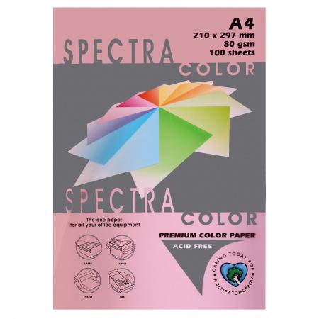 Бумага цветная А4, 80г/кв.м., 100л, пастель, светло-розовый Spectra Color 170