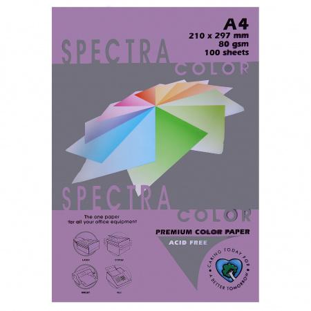 Бумага цветная А4 80г/м2 100л Spectra Color №274 фиолетовый