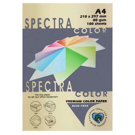 Бумага цветная А4 80г/м2 100л Spectra Color №110 кремовый