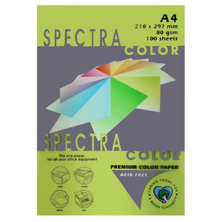 Бумага цветная А4, 80г/кв.м., 100л, интенсив, зеленый Spectra Color 321