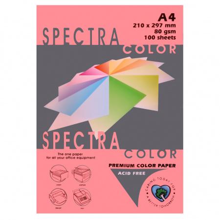 Бумага цветная А4 80г/м2 100л Spectra Color №342 розовый