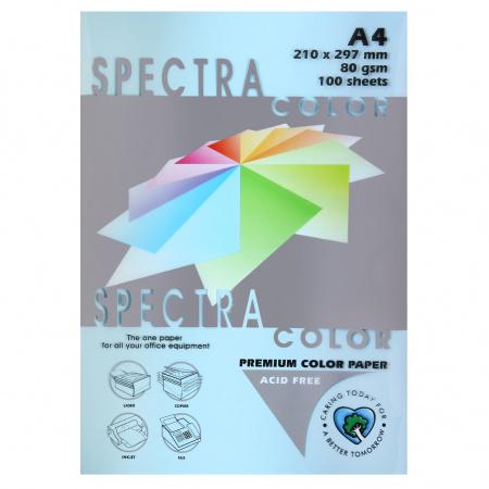 Бумага цветная А4 80г/м2 100л Spectra Color №120 светло-синий
