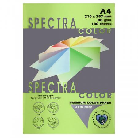 Бумага цветная А4, 80г/кв.м., 100л, интенсив, зеленый Spectra Color 230