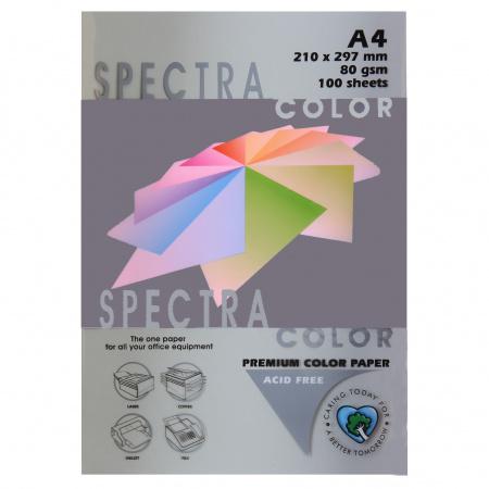 Бумага цветная А4, 80г/кв.м., 100л, интенсив, платиновый Spectra Color 272