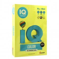 Бумага цветная А4, 80г/кв.м., 500л, неон, желтый неон Mondi 00-00012627