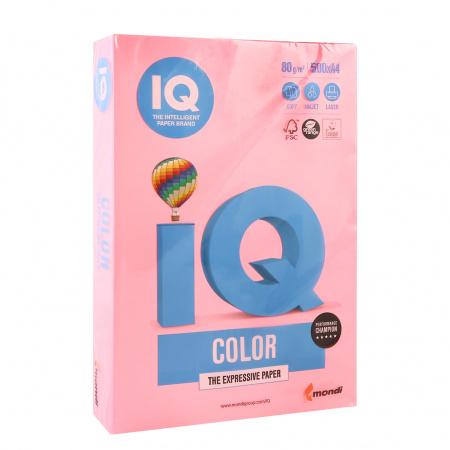 Бумага цветная А4 80г/м2 500л неон IQ Color 00-00000642 розовый