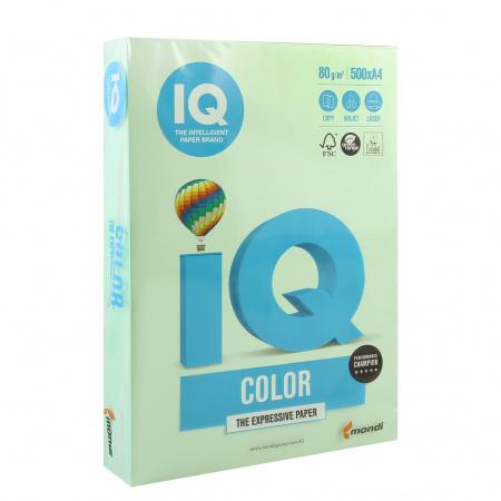 Бумага цветная А4 80г/м2 500л IQ Color 00-00012625/65135 28 зел