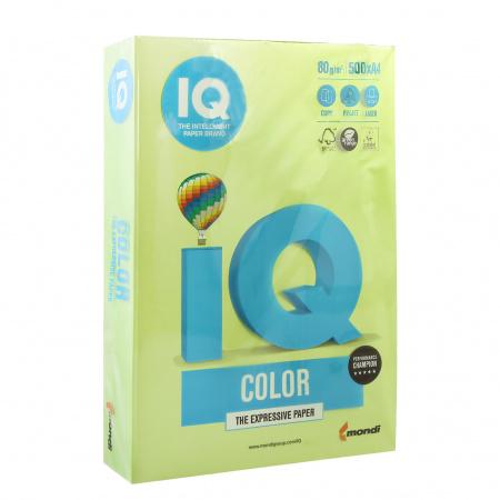 Бумага цветная А4 80г/м2 500л IQ Color 00-00000626/65151 46 зел липа