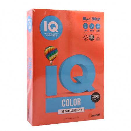 Бумага цветная А4, 80г/кв.м., 500л, интенсив, красный кирпичный IQ Color Mondi 00-00000630