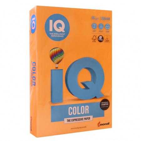 Бумага цветная А4 80г/м2 500л неон IQ Color 00-00012633/65156 оранжевый