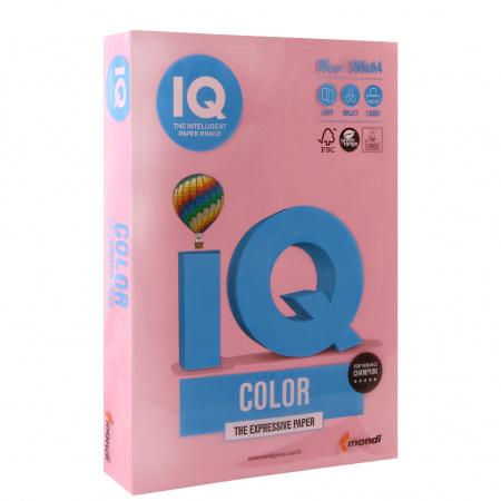 Бумага цветная А4, 80г/кв.м., 500л, пастель, розовый IQ Color Mondi 00-00012526