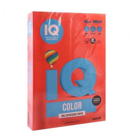 Бумага цветная А4 80г/м 500л IQ Color 00-00000623/65150 44 корал красн