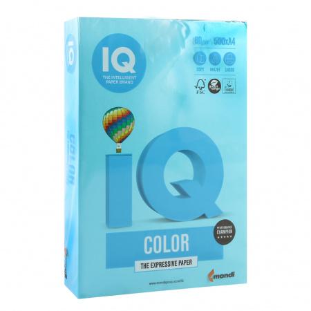 Бумага цветная А4 80г/м 500л IQ Color 00-00012634/65154 48 св син