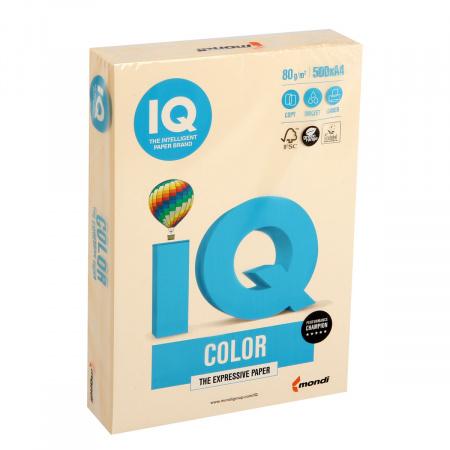 Бумага цветная А4 80г/м 500л IQ Color 00-00000656/65128 20 крем