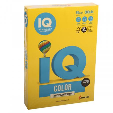 Бумага цветная А4 80г/м 500л IQ Color 00-00005673/65147  50 горчичный