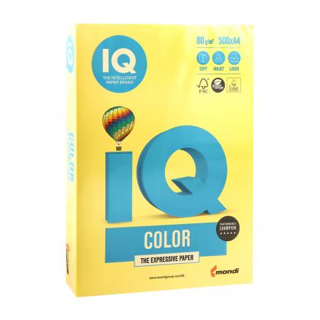 Бумага цветная А4 80г/м 500л IQ Color 00-00012478/65146 39 канар желт