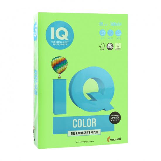 Бумага цветная А4, 80г/кв.м., 500л, интенсив, зеленый IQ Color Mondi 00-00012623