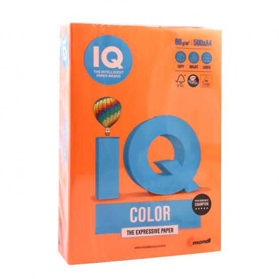 Бумага цветная А4, 80г/кв.м., 500л, интенсив, оранжевый IQ Color Mondi 00-00012479