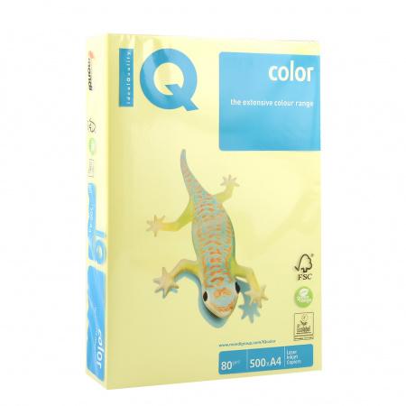 Бумага цветная А4, 80г/кв.м., 500л, интенсив, лимонный IQ Color Mondi 00-00012626