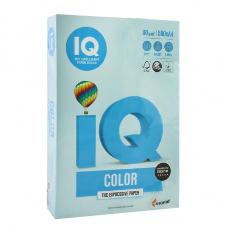 Бумага цветная А4, 80г/кв.м., 500л, пастель, голубой IQ Color Mondi 00-00000658