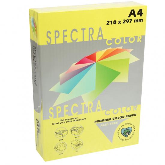 Бумага цветная А4, 80г/кв.м., 500л, неон, желтый Spectra Color 363