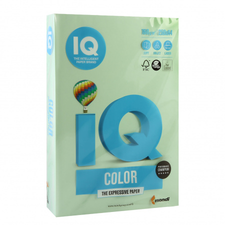 Бумага цветная А4 160г/м 250л IQ Color 00-00000563/65168 28 зел