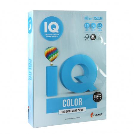 Бумага цветная А4 160г/м 250л IQ Color 00-00000564/65169 70 голуб лед