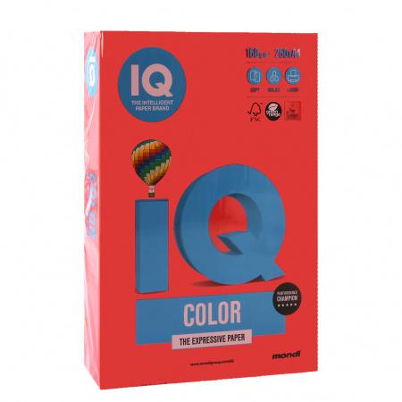 Бумага цветная А4, 160г/кв.м., 250л, интенсив, красный коралловый IQ Color Mondi 00-00000548