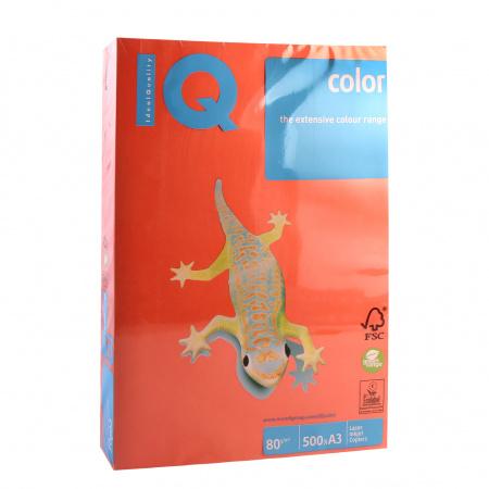Бумага цветная A3 80г/м 500л IQ Color 00-00000589 ZR09 кирпич красн