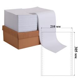 Бумага с неотрывной перфорацией белизна 100% 1-слойная 210*12 4000л 1220м для ЛПУ Promega 8417