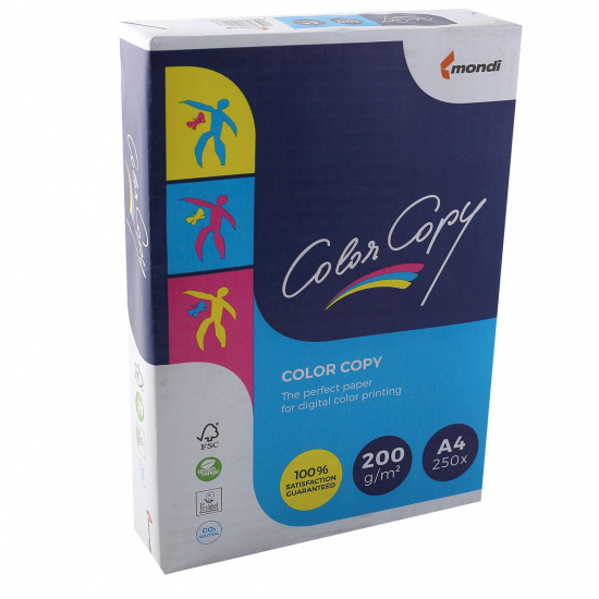 Бумага Mondi Color Copy  А4, 200г/кв.м., 250л, белизна CIE 160%, цвет белый 00-00012409